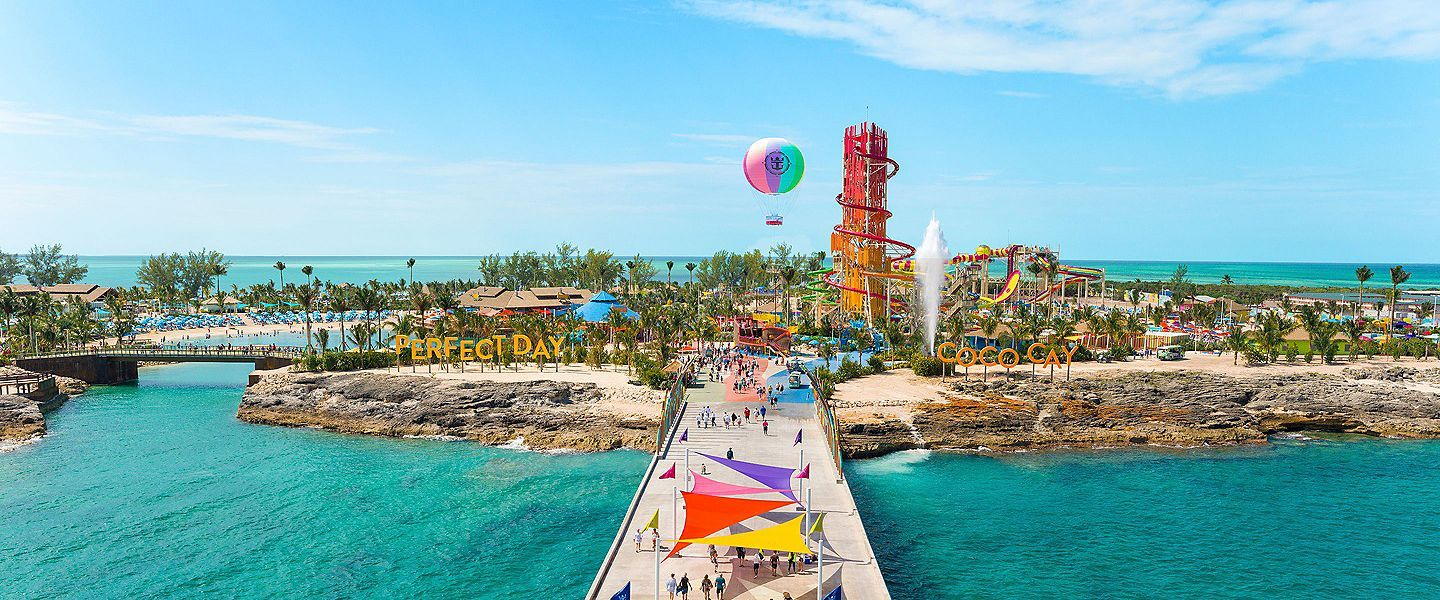 414134arrivals plaza perfect day at cococay aerial view1